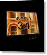 Number 34 Metal Print