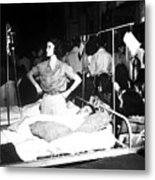 Nurse Adjusts Glucose Injection Metal Print by Stocktrek Images