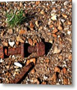 Nuts And Bolts Rusted Metal Print