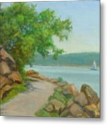 Nyack Trail Along The Hudson Metal Print