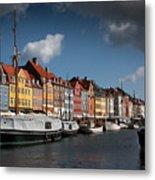 Nyhavn In Copenhagen Metal Print