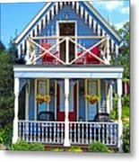 Oak Bluffs Gingerbread Cottages 4 Metal Print