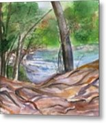 Oak Creek In Sedona Metal Print