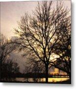 Oakwood Lakes Sunset Metal Print
