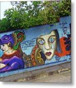 Oaxaca Graffiti Metal Print