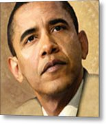 Obama Metal Print by Joel Payne