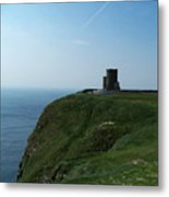 O'brien's Tower At The Cliffs Of Moher Ireland Metal Print