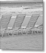 Ocean Chairs Metal Print