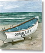 Ocean City Lifeguard Boat Metal Print