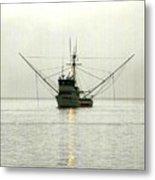 Ocean Fishing Boat Metal Print