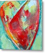 Ocean Heart Metal Print