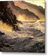 Ocean Waves Metal Print