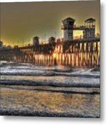 Oceanside Pier Hdr  Metal Print