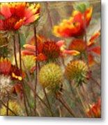 October Flowers 2 Metal Print