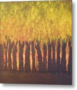 October Trees At Sunset Metal Print