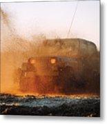 Off Road Mud Splash-2 Metal Print