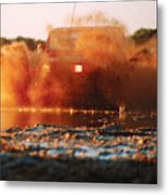 Off Road Mud Splash-3 Metal Print