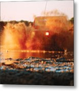 Off Road Mud Splash-4 Metal Print