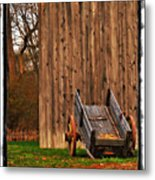 Ohio Wheelbarrel In Autumn Metal Print