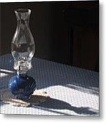 Oil Lamp Metal Print by Steven Scott
