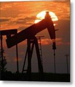 Oil Pump Jack 7 Metal Print