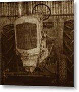 Ol Yeller In Sepia Metal Print