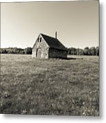 Old Abandoned Farm Building Metal Print