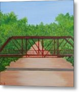 Old Alton Bridge Metal Print