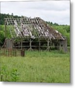 Old Barn Bones  Washington State Metal Print