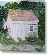 Old Barn In Eastham Ma Metal Print