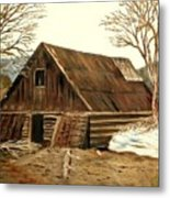 Old Barn Series 1 Metal Print