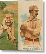 Old Baseball Cards Collage Metal Print by Don Struke
