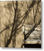 Old Bench Metal Print