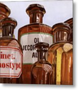 Old Bottles Metal Print