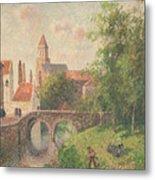 Old Bridge In Bruges  Metal Print by Camille Pissarro