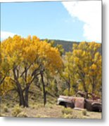 Old Car In The Canyon  Metal Print