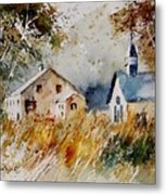 Old Chapel In Herhet Metal Print