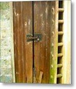 Old Chinese Village Door Series Eight Metal Print