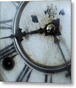 Old Clock Face Metal Print