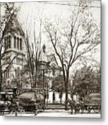 Old Courthouse Public Square Wilkes Barre Pa Late 1800s Metal Print