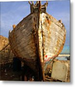 Old Dilapidated Wooden Boat  Metal Print