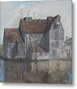 Old English Mill Metal Print