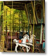 Old-fashioned Merry-go-round Metal Print