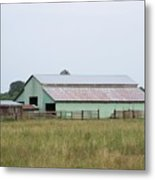 Old Green Barn    Washington State Metal Print