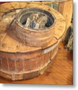 Old Grinding Wheel In A New Environment Metal Print