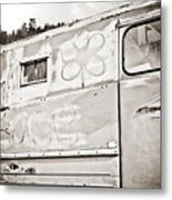 Old Hippie Peace Van Metal Print