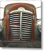 Old International Gravel Truck Metal Print by Randy Harris