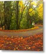 Old La Honda In Fall Metal Print