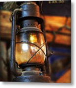 Old Lantern Second Samuel 22 Vs 29 Metal Print
