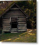 Old Log Cabin Metal Print